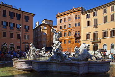 Piazza Navona, Rome, Lazio, Italy, Europe