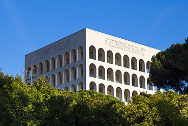 Palazzo della Civilte Italiana, EUR district, Rome, Lazio, Italy, Europe