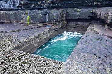 Serpent's Lair, Inish More, Aran Islands, Republic of Ireland, Europe