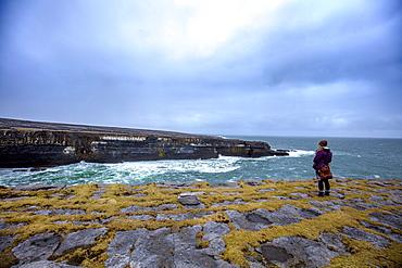 Black Fort, Inish More, Aran Islands, Republic of Ireland, Europe
