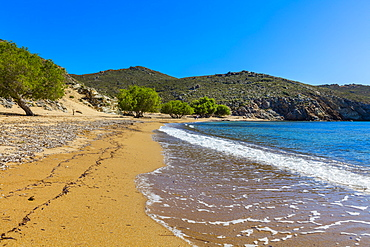 Psili Ammos beach, Patmos, Dodecanese, Greek Islands, Greece, Europe