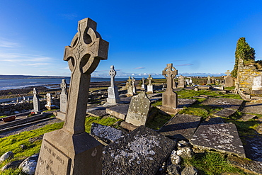 Lahinch Cemetery, Cliffs Coastal Walk, County Clare, Munster, Republic of Ireland, Europe