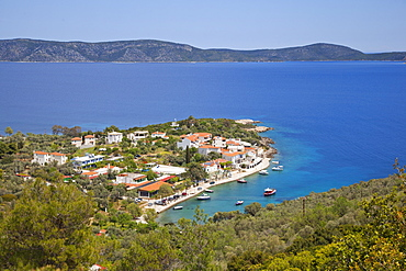 Beach of Glifa Steni Vala, Alonissos Island, Sporades, Greek Islands, Greece, Europe