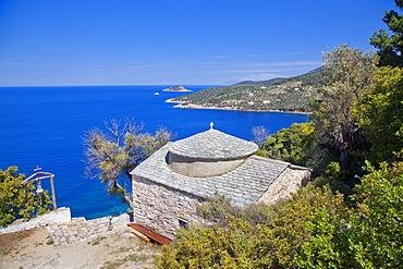 Holy Monastery of Agioi Anargyroi, Alonissos Island, Sporades, Greek Islands, Greece, Europe