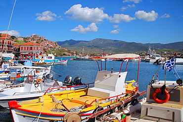 The port of Molivos, Lesvos Island, Greek Islands, Greece, Europe