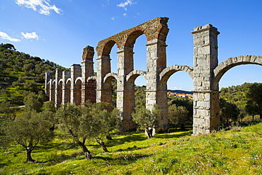 The Roman Aqueduct of Moria, Lesvos Island, Greek Islands, Greece, Europe