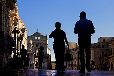 Duomo square, Siracusa (Syracuse), Sicily, Italy, Europe