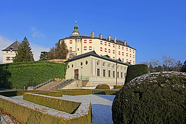 Ambras Castle, Innsbruck, Tyrol, Austria, Europe