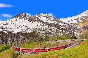 Alp Grum Station, Canton of Graubunden (Grigioni), Switzerland, Europe