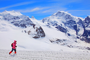 The Diavolezza Mountain, Canton of Graubunden (Grigioni), Switzerland, Europe