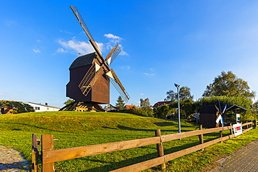 Eldena Post windmill, near the Village of Wieck, Greifswald, Mecklenburg-Vorpommern, Germany, Europe