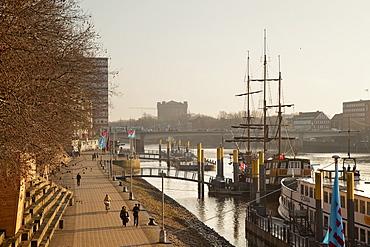 Weser River, Bremen, Germany, Europe