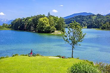 Reintaler lake, near Kramsach, Tyrol, Austria, Europe