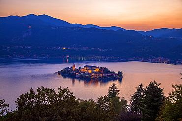 Isle of San Giulio, Orta San Giulio, Piemonte (Piedmont), Italy, Europe