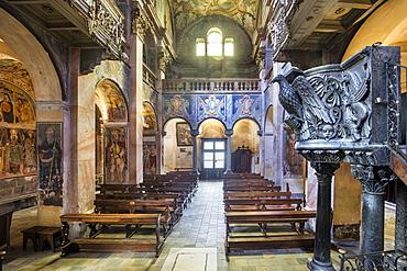 Basilica of San Giulio, Isle of San Giulio, Orta San Giulio, Piemonte (Piedmont), Italy, Europe