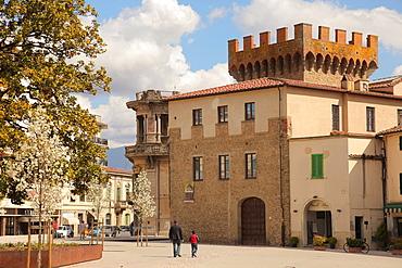 Cassero square, Montevarchi, Tuscany, Italy, Europe