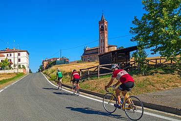 On the Fausto Coppi's roads, Church of the Assumption, in Montale Celli Place (Costa Vescovato), Tortona area, Alessandria, Piedmont, Italy, Europe