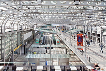 Porta Susa train station, Turin, Piedmont, Italy, Europe