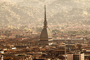 Skyline and Mole Antonelliana, Turin, Piedmont, Italy, Europe