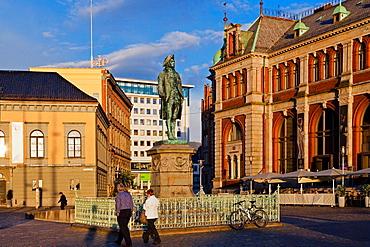 Holberg Monument, Bergen, Norway, Scandinavia, Europe