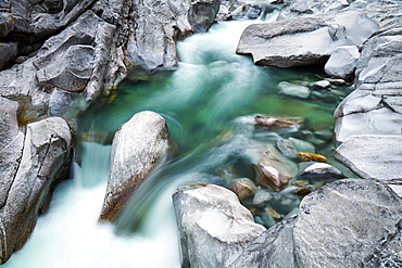 Verzasca River in the Swiss Alps, Ticino, Switzerland, Europe