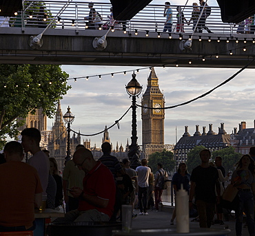 A busy Southbank, London, England, United Kingdom, Europe