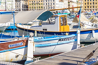 The old port in Marseille, Bouches du Rhone, Provence, France, Mediterranean, Europe