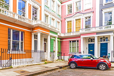 A colourful London street in Primrose Hill, London, England, United Kingdom, Europe