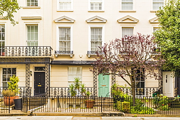 Beautiful architecture in Notting Hill, London, England, United Kingdom, Europe