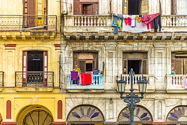 Typical architecture in Havana, Cuba, West Indies, Caribbean, Central America