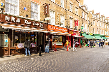 Chinatown street view, London, England, United Kingdom, Europe