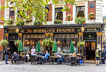 The Sherlock Holmes, a traditional London pub, in Westminster, London, England, United Kingdom, Europe
