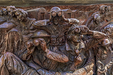 Detail on The Battle of Britain Memorial Monument, London, England, United Kingdom, Europe