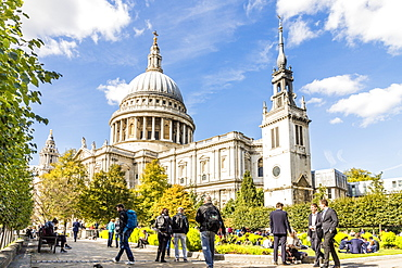 St. Paul's Cathedral in the City of London, London, United Kingdom, Europe