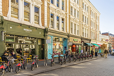 A street scene in South Kensington, London, England, United Kingdom, Europe
