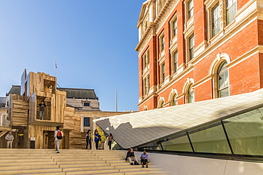 The Sackler Courtyard at the V and A (Victoria and Albert) Museum, South Kensington, London, England, United Kingdom, Europe