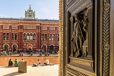 Ornate doors at the V and A Museum (Victoria and Albert), South Kensington, London, England, United Kingdom, Europe
