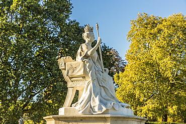 The Queen Victoria statue in Kensington Gardens, London, England, United Kingdom, Europe