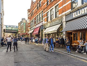A street scene in Borough Market, Southwark, London, England, United Kingdom, Europe