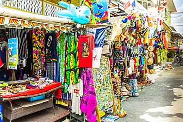 A colourful souvenir stall in Bocas del Toro, Panama, Central America