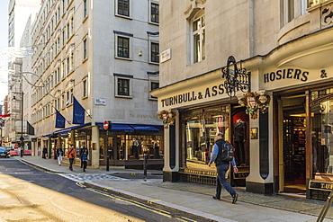Jermyn Street in St. James's, London, England, United Kingdom, Europe