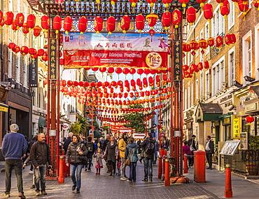 Gerrard Street in Chinatown, London, England, United Kingdom, Europe
