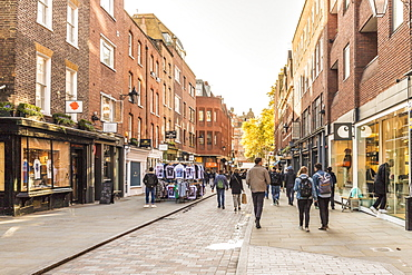 Earlham Street in Covent Garden, London, England, United Kingdom, Europe