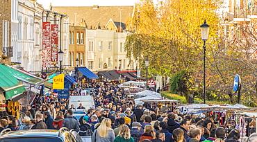 Portobello Road market, in Notting Hill, London, England, United Kingdom, Europe