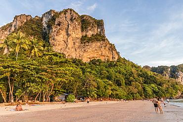 Karst scenery at Ao Nang beach in Krabi, Thailand, Southeast Asia, Asia