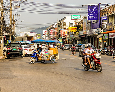 A street scene in Phuket old town, Phuket, Thailand, Southeast Asia, Asia