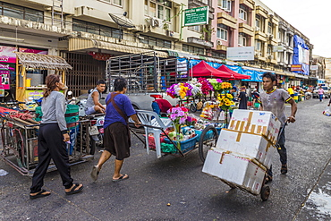 A market scene at the 24 hour local market in Phuket Town, Phuket, Thailand, Southeast Asia, Asia