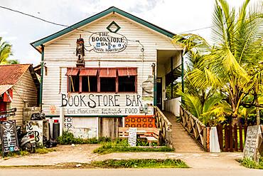 The bookstore bar in Bocas Town, Colon Island, Bocas del Toro Islands, Panama.