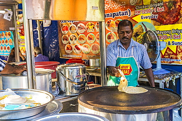 A traditional local food stall in Little India, George Town, Penang Island, Malaysia, Southeast Asia, Asia