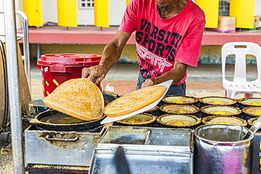 A local corn cake stall in George Town, Penang Island, Malaysia, Southeast Asia, Asia